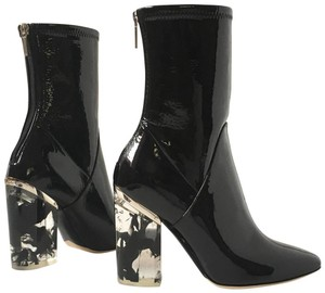 Dior Stretchy Chunky Patent Leather black Boots
