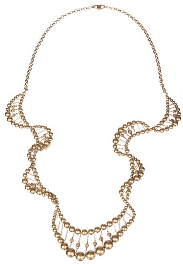 Preload https://img-static.tradesy.com/item/25866261/givenchy-golden-faux-pearl-and-rhinestone-spiral-necklace-0-0-540-540.jpg