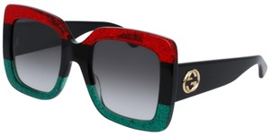 Gucci NEW GUCCI GG0083S BLACK/RED/GREEN (001) WITH GREY GRADIENT LENSES