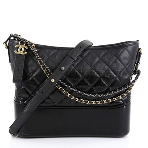 Chanel Gabrielle Quilted Goatskin Hobo Bag