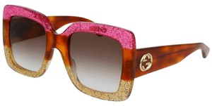Gucci With Brown Gradient Lens Women's Square Sunglasses