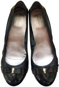 Cole Haan Leather Bow Nike Air Black Flats
