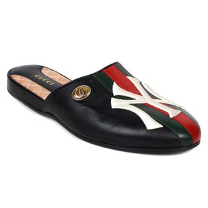 Gucci Black / White / Red Mules