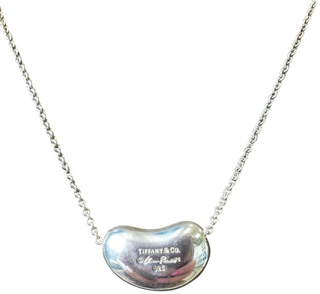 Tiffany Co Silver Large Bean Pendant And Chain Necklace Tradesy