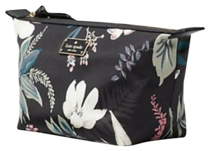 Kate Spade Botanical Floral Domed Travel Cosmetic Bag Pouch