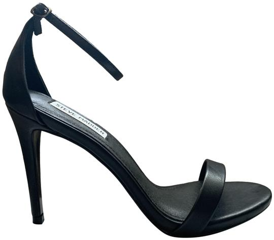 Steve Madden Designer Party Simple Everyday Black Sandals Image 0