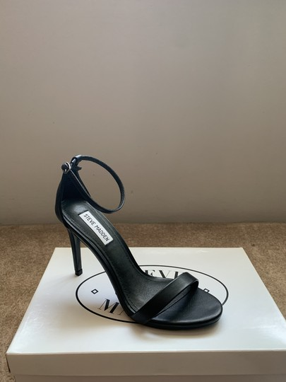 Steve Madden Designer Party Simple Everyday Black Sandals Image 1