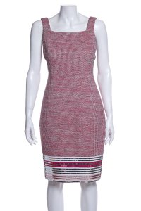 Chanel short dress Red on Tradesy
