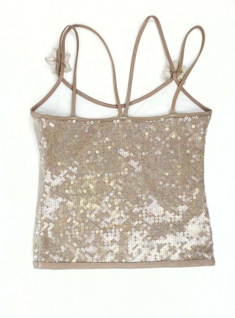 Chanel Sequin Floral Sleeveless Polyester Top Gray Image 1