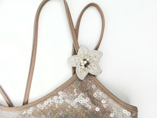 Chanel Sequin Floral Sleeveless Polyester Top Gray Image 2