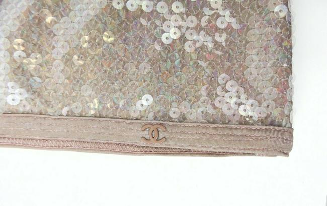 Chanel Sequin Floral Sleeveless Polyester Top Gray Image 3