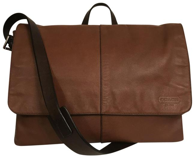 Item - Thompson Slim 70313 Brown Silver Leather Messenger Bag