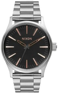 Nixon Nixon A450 2064 The Sentry 38 SS Stainless Steel Grey Rose Gold Watch