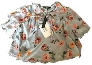 W118 by Walter Baker Top Blue Floral