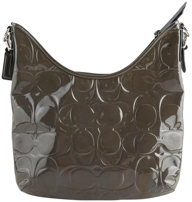 Item - Army Vias Signature Green Patent Leather Hobo Bag