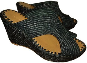 Carrie Forbes Black natural Wedges