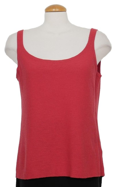 Item - Radish Red Washable Wool Links Shell 2x Tank Top/Cami Size 22 (Plus 2x)