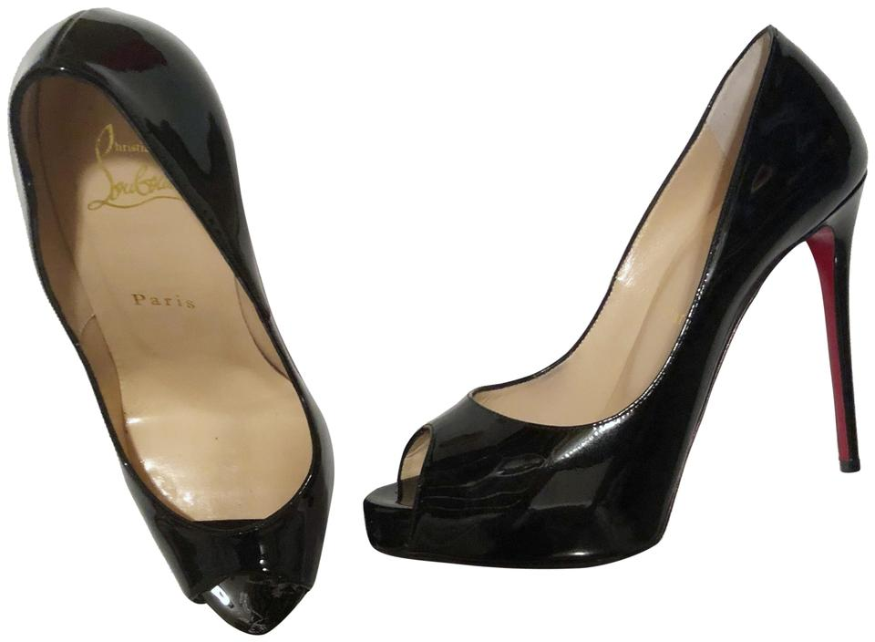 new product 862f4 ddc0f Christian Louboutin Black New Very Prive 120 Patent Pumps Size EU 37  (Approx. US 7) Regular (M, B) 42% off retail