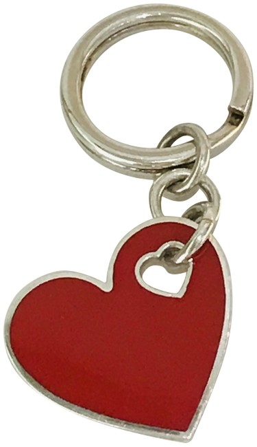 Item - Red Puffed Heart Key Ring Charm