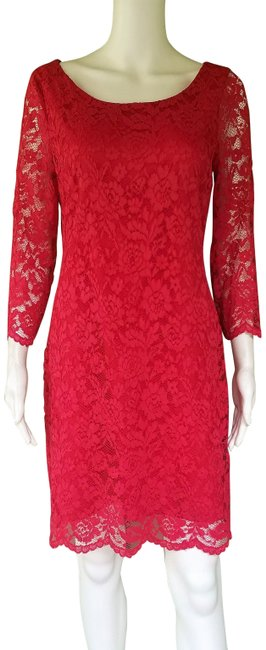 Preload https://img-static.tradesy.com/item/25869753/nine-west-red-lace-shift-mid-length-cocktail-dress-size-8-m-0-1-650-650.jpg
