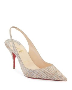 Christian Louboutin Stiletto Clare Sling Cork Beige/Grey Pumps