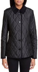 Burberry Quilted Heritage Check Black Jacket