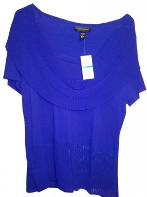 Preload https://item1.tradesy.com/images/cable-and-gauge-blue-electrifying-blouse-size-16-xl-plus-0x-25870-0-0.jpg?width=400&height=650