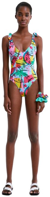 Item - Sky Blue Watermellon Printed Swimsuit One-piece Bathing Suit Size 8 (M)