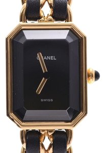 Chanel Premiere Gold And Black Quartz Watch Size Large