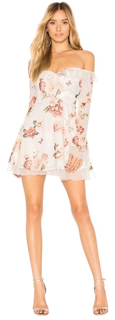 Item - Floral In White Zinnia Night Out Dress Size 4 (S)