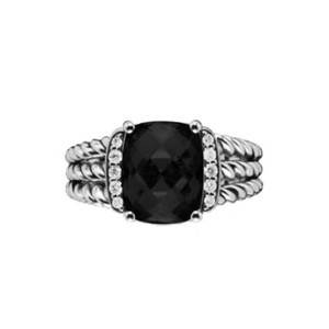 David Yurman David Yurman Petite Wheaton Onyx Diamond Ring