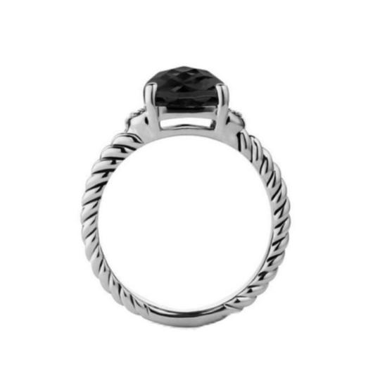 David Yurman David Yurman Petite Wheaton Onyx Diamond Ring Image 2