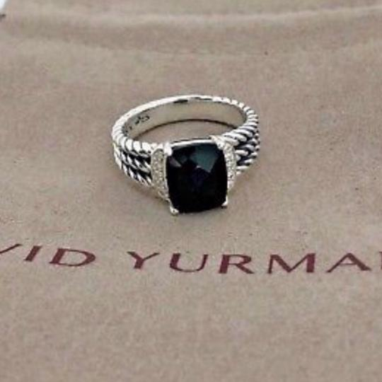 David Yurman David Yurman Petite Wheaton Onyx Diamond Ring Image 4
