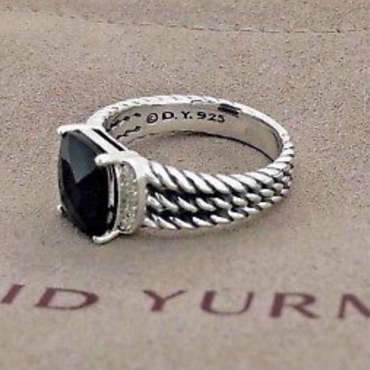 David Yurman David Yurman Petite Wheaton Onyx Diamond Ring Image 5
