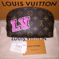 Louis Vuitton Cosmetic Pouch PM Stickers Patchwork Pivoine World Tour Patches NEW M43998 Image 1