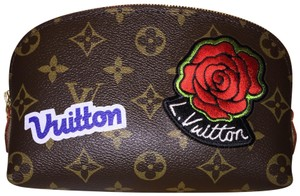 Louis Vuitton Cosmetic Pouch PM Stickers Patchwork World Tour Patches NEW 43998