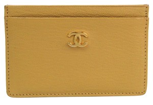 Chanel Chanel Leather Card Case Beige