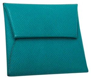 Hermès Hermes Bastia Epsom Leather Coin Purse/coin Case Green