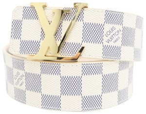 Louis Vuitton White Damier Azur Canvas 80/32 Belt