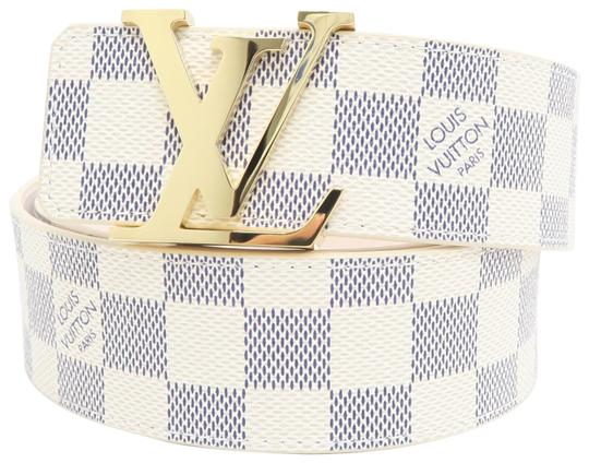 Preload https://img-static.tradesy.com/item/25870795/louis-vuitton-white-damier-azur-canvas-8032-belt-0-1-540-540.jpg
