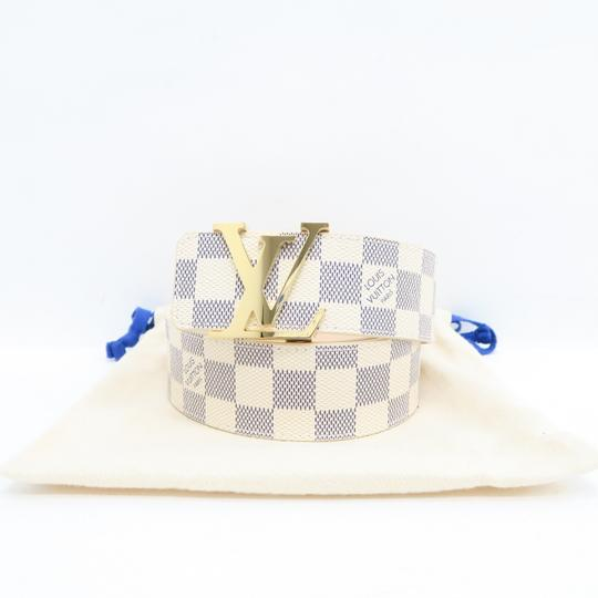 Louis Vuitton White Damier Azur Canvas 80/32 Belt Image 1