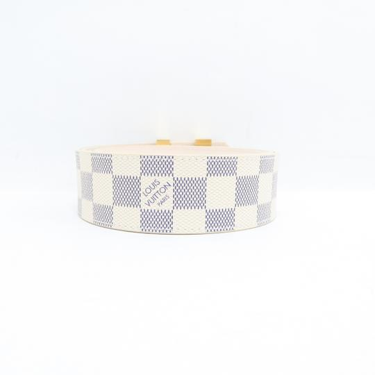 Louis Vuitton White Damier Azur Canvas 80/32 Belt Image 2