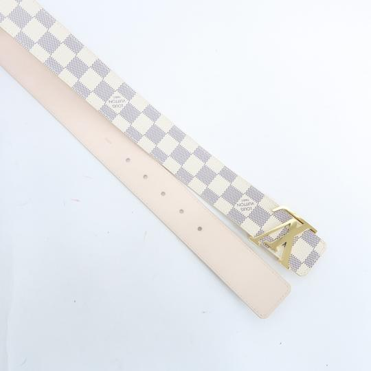 Louis Vuitton White Damier Azur Canvas 80/32 Belt Image 3