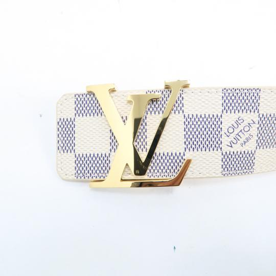Louis Vuitton White Damier Azur Canvas 80/32 Belt Image 5