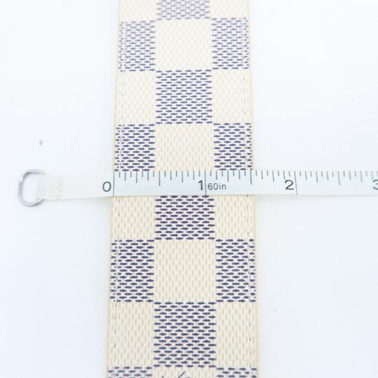 Louis Vuitton White Damier Azur Canvas 80/32 Belt Image 7