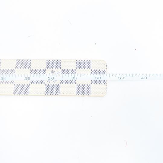 Louis Vuitton White Damier Azur Canvas 80/32 Belt Image 8