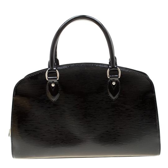 Louis Vuitton Alcantara Patent Leather Leather Satchel in Black Image 1