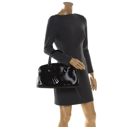 Louis Vuitton Alcantara Patent Leather Leather Satchel in Black Image 2