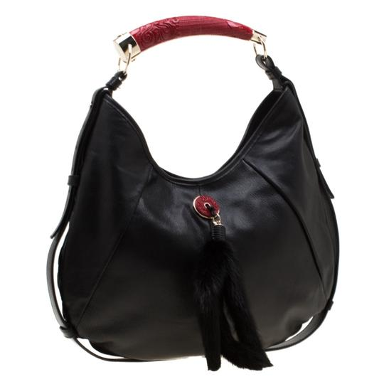 Saint Laurent Leather Hobo Bag Image 3