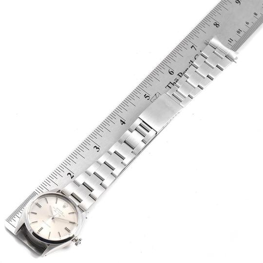 Rolex Rolex Air King Vintage Stainless Steel Silver Dial Mens Watch 5500 Image 9